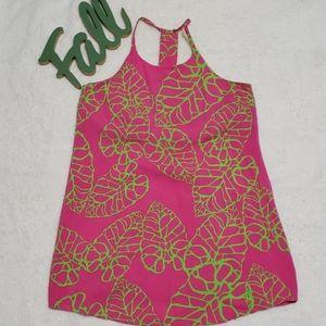 ⬇️$25ESCAPADA pink and creme rayon tank dress